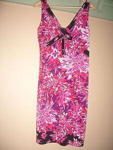 US designer Tahari dress unique colours BNWT RRP$138 10 12