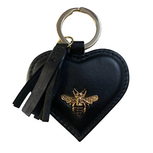 EMVY Premium Leather Bumble Bee Keyring ladies bees key ring - IN GIFTBAG -EBKR
