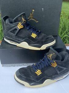 Jordan 4 Retro 'Royalty' Black Suede/Gold Air Jordan IV - Size 11
