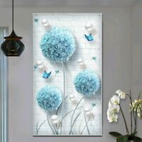 5d Diamond Embroidery Round Flower Butterfly Painting Cross Stitch Needleworks