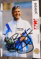 FC Schalke 04 + Handsignierte Autogrammkarte + Jörg Berger - Trainer /1