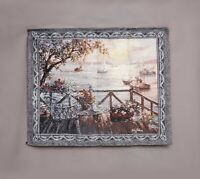 Antique French Aubusson Style Wall Hanging Tapestry  105X85cm   Vintage Style