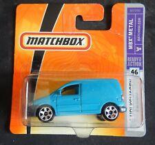 Matchbox #46 06 Volkswagen Caddy Van Light Blue Short Card