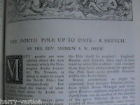 North Pole Arctic Polar Exploration Iceberg Rare Old Antique Article 1893 Nansen