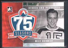 MILT SCHMIDT 2010/11 ITG HEROES & PROSPECTS AHL 75TH ANNIVERSARY SP *RARE* $10