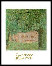 Gustav Klimt Oberösterreichisches Bauernhaus Poster Kunstdruck & Rahmen 30x24cm