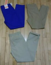 LOT OF 3 OLD NAVY Pixie Tan, Harper Blue, Gap Broken In Straight Khaki Pants 0
