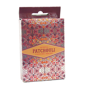 Patchouli Incense Cones Home Fragrances Aroma Scent Relaxing Holder Plate