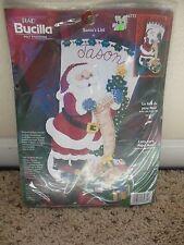 "Bucilla SANTA'S LIST 18"" Felt Christmas Stocking Kit 84772 Bear Trains Toys OOP"