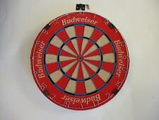 Vintage NEW Genuine Budweiser RED BRISTLE Dart Board (NOS - New Old Shelf Stock)