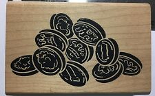 FALLING COINS wood-mounted Rubber stamp by Museum of Modern Rubber