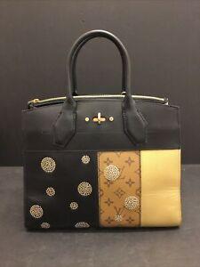 Authentic Louis Vuitton 2017 Monogram Reverse City Streamer MM Night Light Bag