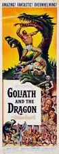 Goliath And The Dragon 14x36 Insert Movie Poster Replica