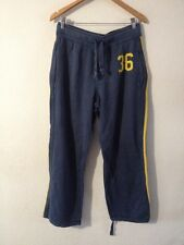 H&M Jersey Jogging Bottoms Size M Blue With Yellow Trim <R11831