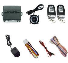 Keyless Entry Car Alarm Security System Engine Start Push Button & 2 Key Remote