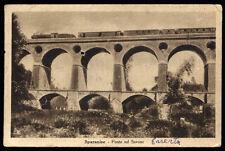 cartolina SPARANISE ponte sul savone TRENO FERROVIA