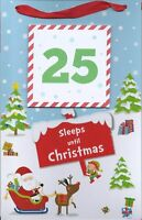 SLEEPS UNTIL CHRISTMAS COUNTDOWN HANGING ADVENT CALENDAR WITH TEAR OFF SHEETS