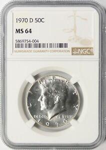 1970-D Kennedy Half Dollar 50c NGC MS64 Semi-Proof Like