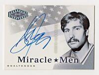 2004-05 UD Legendary Signatures Miracle Men Autograph Steve Janaszak Goaltender
