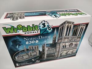 Puzzle 3D Notre Dame de Paris 56x36x25cm 830 pieces mousse + livret ,idée cadeau