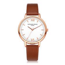 Fashion Women Watch Stainless Steel Leather Analog Quartz Girls Dial Wrist Watch