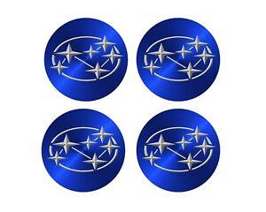 x4 Vinyl High Tack decals Wheel hub caps to suit Subaru Brumby/ L-Series Wagon