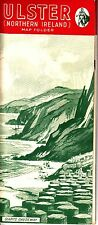 """Ulster Northern Ireland Map Folder """"For Your Holiday"""" Brochure 1950s"""