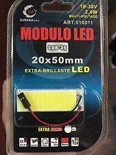 PANNELLO 2,4w LED COB 36 led BIANCHI ATTACCO T10 E SILURO AUTO - PIASTRINA LED
