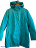 LL Bean Womens Size Large Hooded Nylon Rain Quilt and Fleece Lined Teal Zip Up