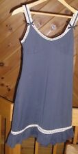 Anthropologie ELOISE Slinky Charcoal and Lace Chemise Nightie Slip Style EUC XS
