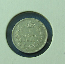 Canada 1888 5 cents very nice coin scratched observe