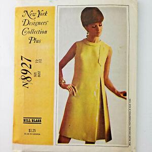 McCall's NY Designer's Collection Plus 8927 UNCUT Bill Blass Misses Dress Sz 12