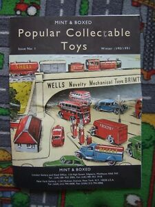 Mint & Boxed winter issue 1 1990/1991 catalogue. Famous London toy shop. RARE