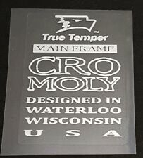 True Temper Main Frame Cro Moly Tubing Decal - Metallic Silver (sku 11324)