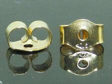 9ct Gold Butterfly Earring Backs Scrolls Push Fit 375 (5mm x 3mm) 1 x Pair (2)