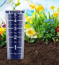 """AcuRite Magnifying Rain Gauge 5"""" capacity 00850A2 EasyRead BLUE #00850 Accurate"""