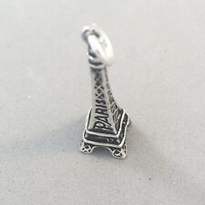 ".925 Sterling Silver 3-D EIFFEL TOWER /""PARIS/"" France CHARM Pendant NEW 925 TR85"