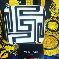 VERSACE GREEK KEY BREAD PLATE DISH DESSERT ROSENTHAL  NEW