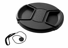 95MM Front LENS CAP with Keep Leash 95 mm Quality snap-on / clip-on design NEW