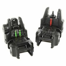 Airsoft Gear APS Flip Up Rhino Front Rear Sight with Fiber Optic Set Green/Red