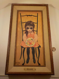 """Original 1962-vintage (Framed) """"Margaret KEANE ~ BIG-EYE Girl"""" PRINT!"""