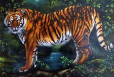 Majestic Tiger Fine Art Paintings Animals Original Unique Collectible India