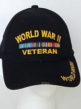 World War II Veteran Military Ball Cap Hat Embroidered Style 2
