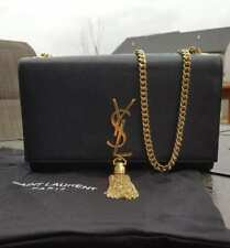 Black YSL Kate Medium Purse With Gold Tassel Pre-Owned Mint Condition W/Dust Bag