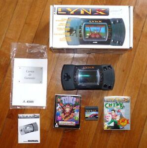 Console portable Atari Lynx 2 + Jeux en boite in box