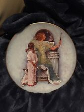"""Norman Rockwell Mother's Day 1979 """"Mother's Evening Out"""" Collectors Plate Nib"""
