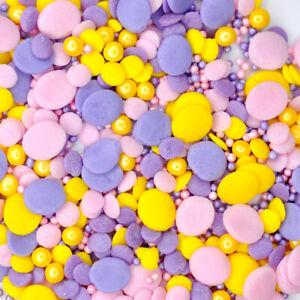 Lemon Candy Pop Cake Sprinkles Mix Edible Easter Vegan Gluten Free Halal