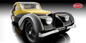 BAUER Bugatti Atalante Type 57SC Yellow/BLK Extra Large 1:12 Scale LE 500pc New!
