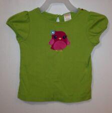 "Gymboree ""Smart and Sweet"" 18-24 Months Green Shirt Pink Bird OUTLET"