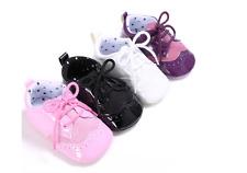 Newborn Baby Boy Girl Soft Oxford Pram Shoes Toddler PreWalker Trainers 0-18 M